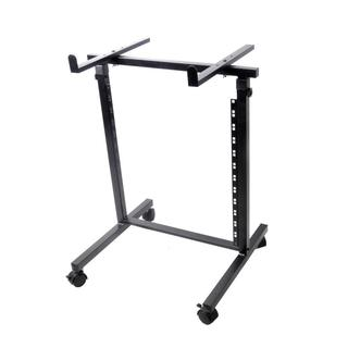 Pyle PDJSD2 12U 2-post Open Frame Rack Shelf and Equipment/Device Stand