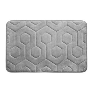Hexagon Memory Foam 17 in. x 24 in. Bath Mat w/ BounceComfort Technology