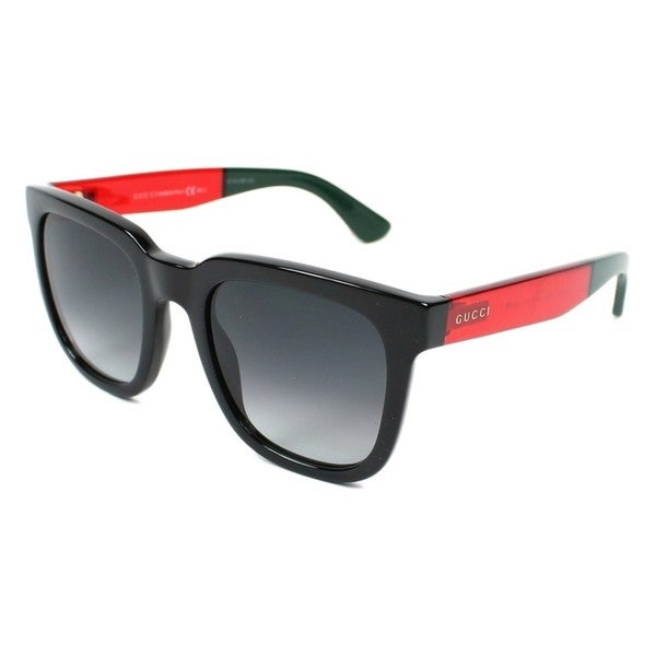 6d26b5d85efb7 Shop Gucci Mens GG1133 S 0VM8 Rectangular Plastic Sunglasses - Free ...