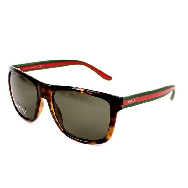 cdd930f2d Shop Gucci GG1118/S 0M15 Mens Rectangular Sunglasses - Free Shipping ...