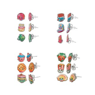 Shopkins Children's 3-piece Printed Stud Earring Set