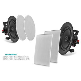 Pyle PDIC1666 White 6.5-inch 200-watt 2-way Flush-mount In-wall Home Speakers (Set of 2)