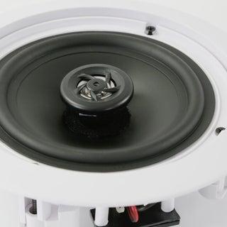 Pyle White ABS 2-Way 250-watt Flush Mount Home Speakers (Pair)