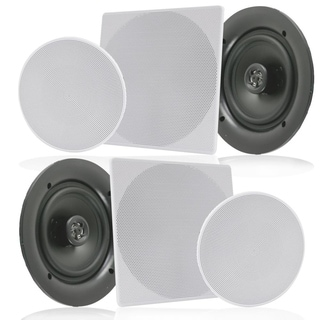 Pyle White 250-watt 2-way Flush Mount In-wall In-ceiling Speakers