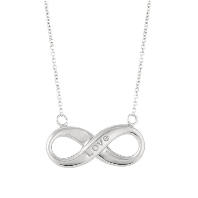 Sterling Silver 18-inch Women's Forever Infinity Necklace...