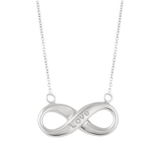Sterling Silver 18-inch Women's Forever Infinity Necklace
