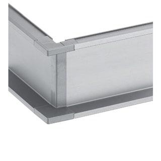 Schwinn Hardware Handle-Free Cabinet Hardware 6K400-C Outer Corner Silver Component