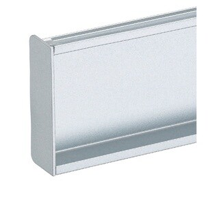 Schwinn Hardware Handle-Free Cabinet Hardware 6K378 C Cap Left and Right Silver Rectangle Component