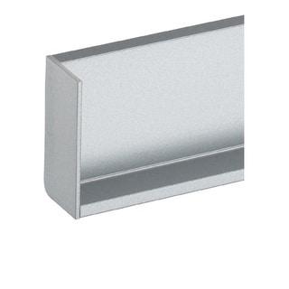 Schwinn Hardware Handle-Free Cabinet Hardware 6K377 L Cap Left Silver Rectangle Component