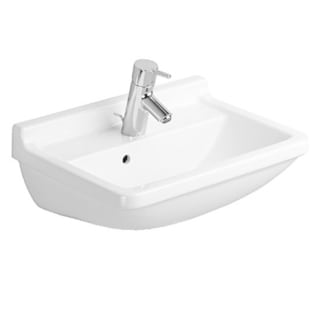 Duravit White Porcelain Wall-mount Single-basin Washbasin
