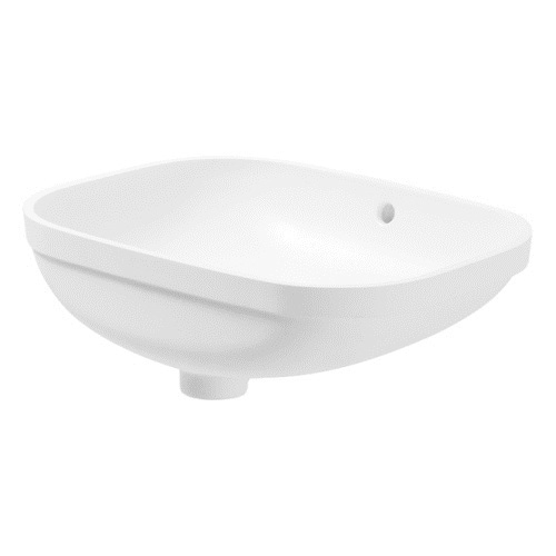 Duravit Undercounter basin 56 cm D-Code whi with of, without tap-platform 0338560000