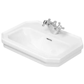 Duravit White Porcelain Single-faucet Sink