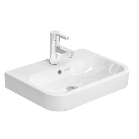 Duravit Happy White Porcelain Single-hole Wall-mount Handrinse Sink 0709500000