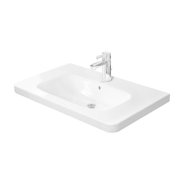 Duravit Furniture White Porcelain Wall-mount Single-basin Bathroom Sink 2320800000