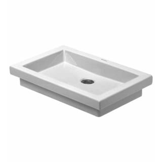 Duravit Plain Basin 58-centimeter White Without Overflow, Without Tap Platform WGL
