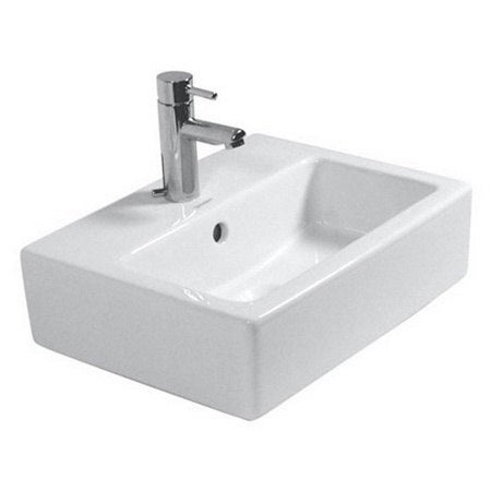 Duravit Vero White Porcelain Single Hole Wall Mount Handrinse Sink 07044500271