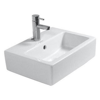 Duravit Vero White Porcelain Single-hole Wall-mount Handrinse Sink