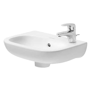 Duravit Handrinse basin 36 cm D-Code white with of, with tp, th left punched