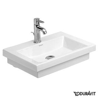 Duravit 50cm 2nd Floor White 1 Tap Hole WGL Handrinse Basin