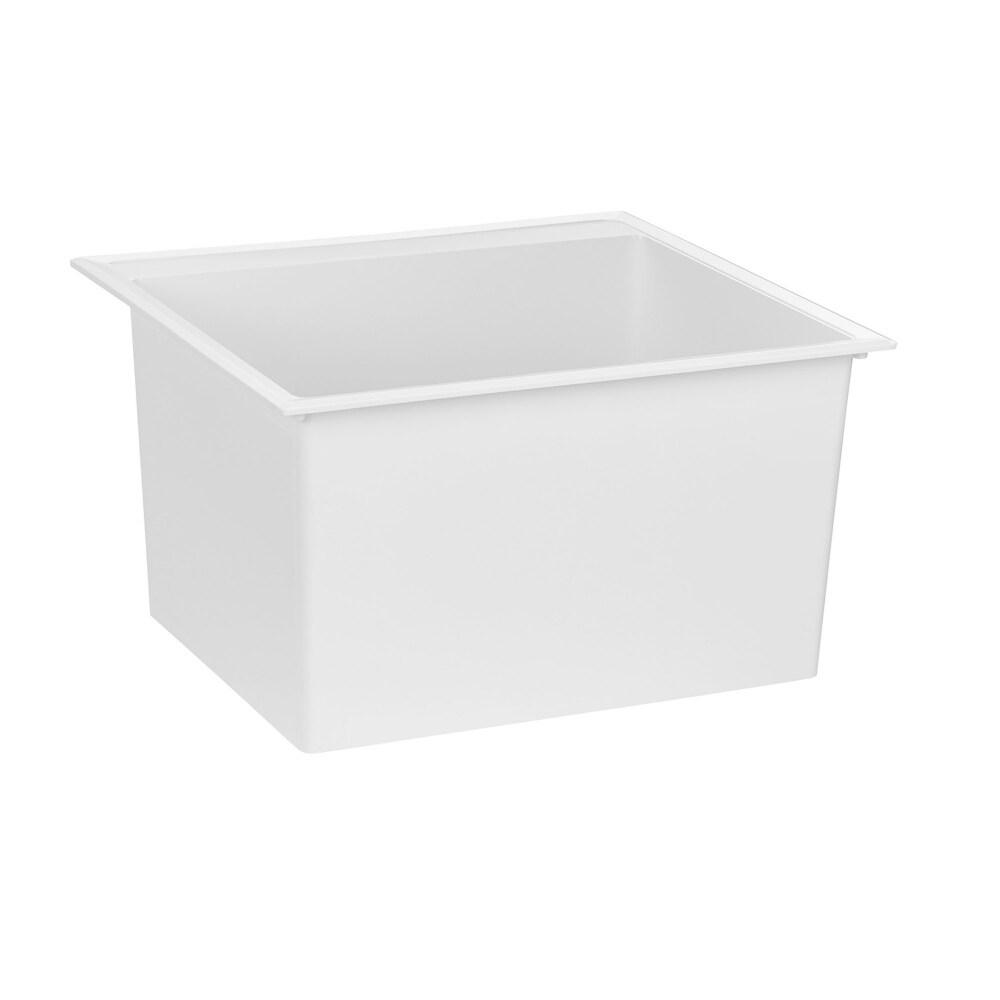 American Standard Fiat White Stone Utility Sink (White)