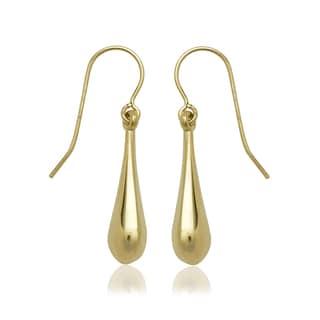 10k Yellow Gold Polished Puffed Teardrop Earrings