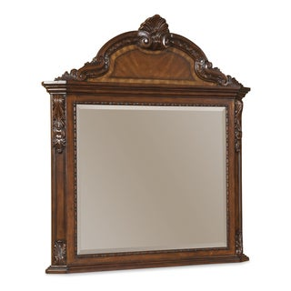 A.R.T. Furniture Old World Crowned Landscape Mirror - Brown