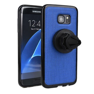 KroO 360-degree Rotating Magnetic Air Vent Car Mount Holder with Case for Samsung Galaxy S7 Edge