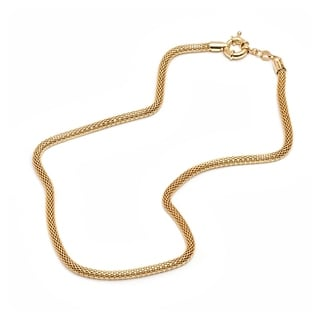 Gold-plated Gold Mesh Link Chain Necklace