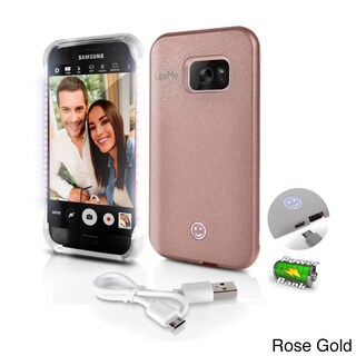 Lite-Me Selfie Lighted Samsung Galaxy S7 Edge Smart Case With Power Bank and LED Lights (Option: Rose Gold)