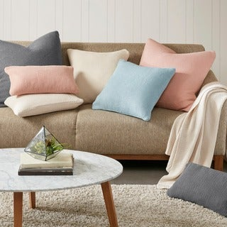 Ink+Ivy Chunky Knit Oblong Down Feather Filled Toss Throw Pillows -- 3 Color Options