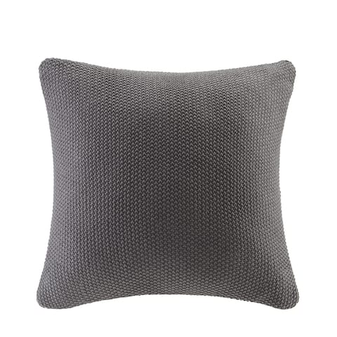 Carson Carrington Jekabpils Knitted 20 x 20-inch Square Pillow Cover