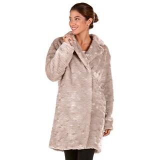 Rosaline Beige Faux-fur Coat