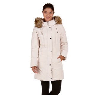 Women's Provence Down Coat with Faux Fur Trim Hood (More options available)