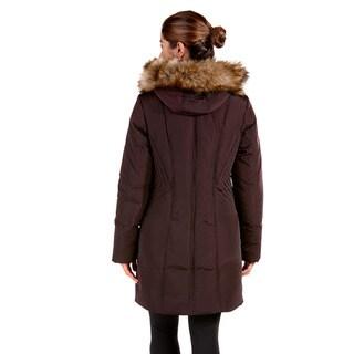 Women's Provence Down Coat with Faux Fur Trim Hood