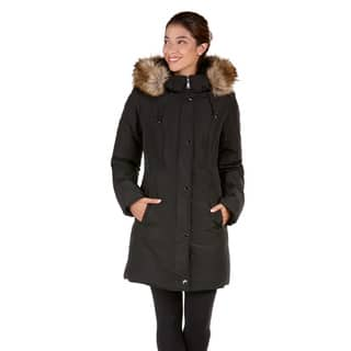 Women's Provence Down Coat with Faux Fur Trim Hood|https://ak1.ostkcdn.com/images/products/12731707/P19510583.jpg?impolicy=medium