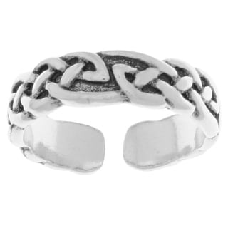 Peter Stone Jewelry Designs Carolina Glamour Collection Sterling Silver Celtic Knotwork Adjustable Toe Ring