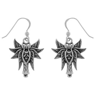 Carolina Glamour Collection Sterling Silver Eight Winged Angel Fairy Dangle Earrings