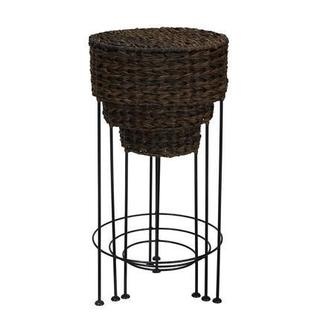 Resin Wicker Water Hyacinth Nested Accent Table Set