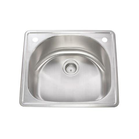 KBF & MORE Stainless Steel Drop-in Quarter-round Kitchen Sink