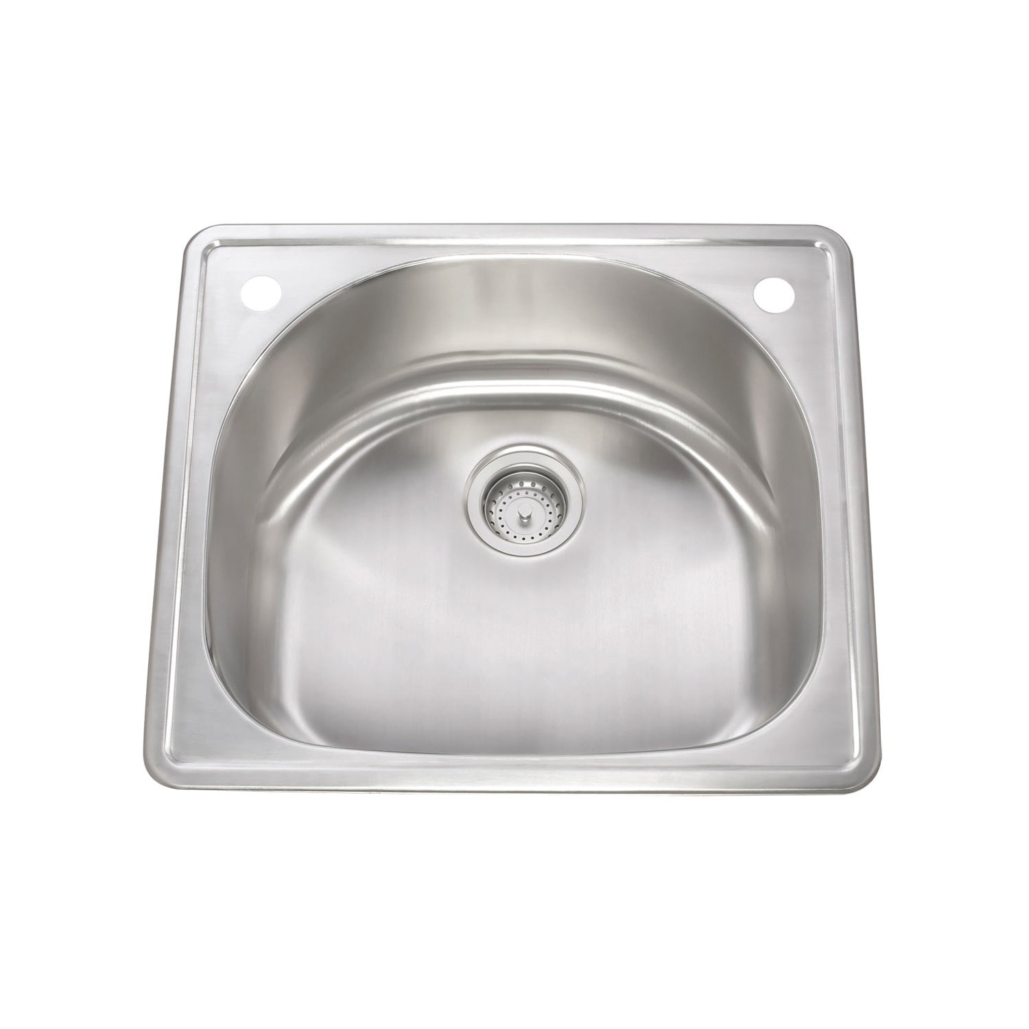 KBF & MORE Stainless Steel Drop-in Quarter-round Kitchen Sink