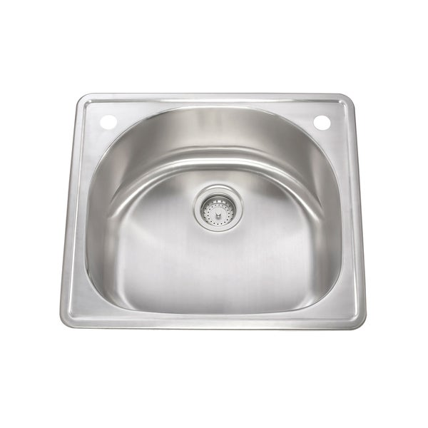 Lenova Stainless Steel Drop-in Quarter-round Kitchen Sink - Free ...
