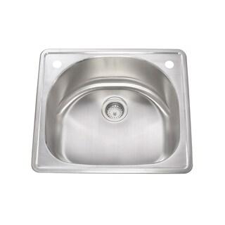 Lenova Stainless Steel Drop-in Quarter-round Kitchen Sink