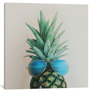 iCanvas Pineapple In Paradise by Chelsea Victoria Canvas Print