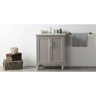 Legion Furniture Quartz Top 30-inch Warm Grey Single Bathroom Vanity