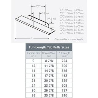 Schwinn Hardware 3766 Series Full-Length Black 256-millimeter Tab Pull