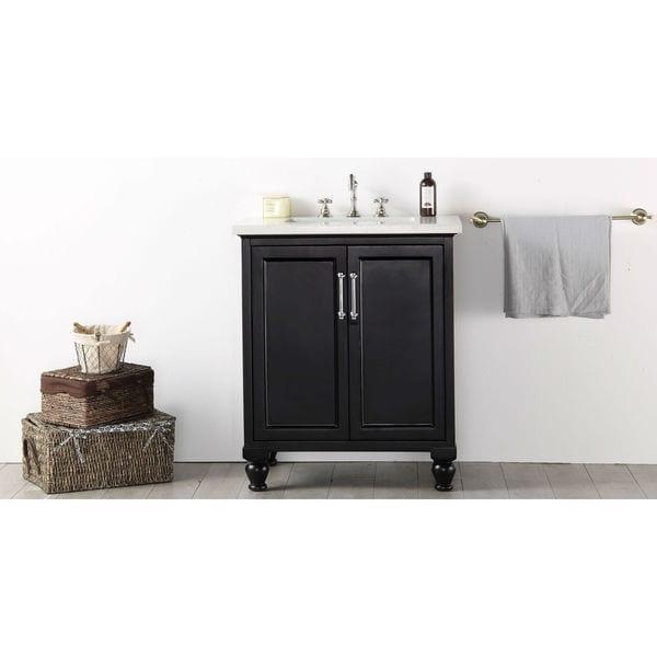 Legion Furniture Quartz Top 30 Inch Espresso Single Bathroom Vanity