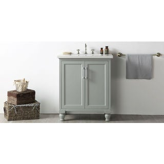 Legion Furniture Quartz Top 30-inch Cool Grey Single Bathroom Vanity