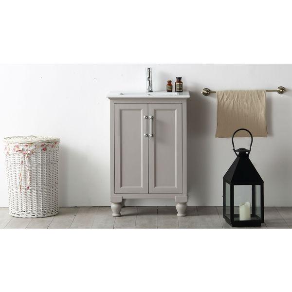 Legion Furniture 24 Inch Warm Grey Single Bathroom Vanity
