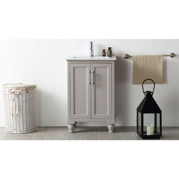 Shop Legion Furniture 24 Inch Warm Grey Single Bathroom Vanity Free Shipping Today Overstock