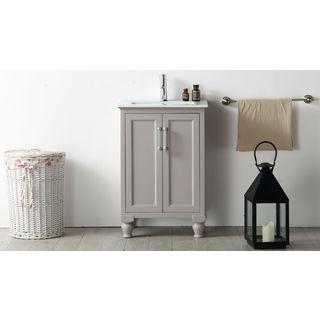 Legion Furniture 24-inch Warm Grey Single Bathroom Vanity
